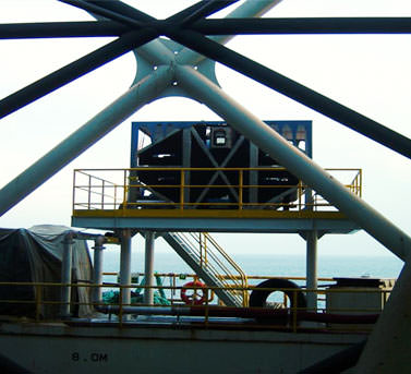 FX Seawater Geo-Cooler on an offshore rig