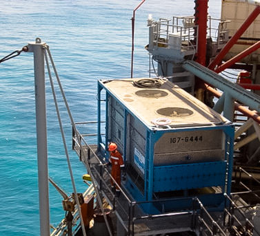 Drill Cool's Geo-Cooler mud cooler in action on an offshore drilling rig