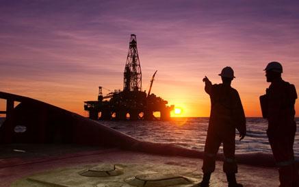 Engineers on an Oil Platform